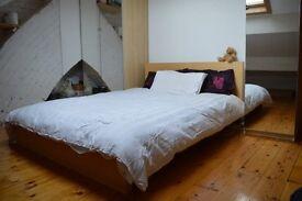 Ikea Double Bed Plus Double Mirrored Wardrobe