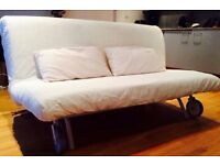 IKEA PS HAVET Sofa Bed Futon with Top of the Range Thick Havet Sofabed Mattress+Heavy Cover VGC