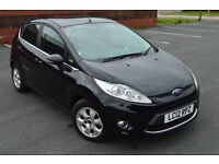 2012 ford fiesta 1.6 tdci econetic 30121 miles 5 door black panther, 0 tax ,new mot