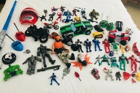 Power Rangers Ben 10 Spider-Man Action man Batman Toy Bundle