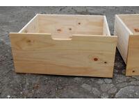 Wooden Underbed drawers / underbed storage / drawers on wheels