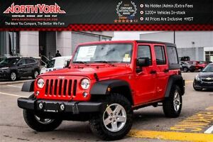 2017 Jeep WRANGLER UNLIMITED NEW Car Sport S|4x4|CnnctvtyPKG|Pwr
