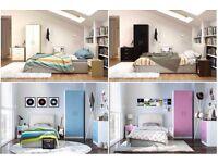 BRAND NEW 3 piece Bedroom HIGH GLOSS Set white/pink/blue/black
