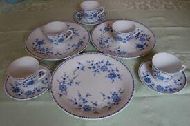 Seltmann (Bavaria) Pattern '96' Plates, Cups etc, 'Blue Doris' Plates & 'Helena' Tureen, All in VGC