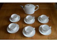 Wedgwood Vera Wang Blanc sur Blanc teacups & teapot. New. Unused. Exquisite
