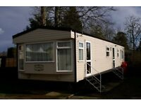 haggerston Castle luxury caravan for hire. GCH. Double ensuite. Has full bath!