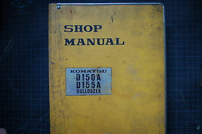 Komatsu D150a D155a Tractor Crawler Dozer Repair Shop Service Manual Book Owner