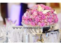 Wedding Reception Centrepiece Rental from £7.99 Wedding Decoration hire, wedding stage and backdrops
