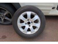 """Peugeot 15"""" Alloy Wheel 6JX15 CH4-27 4 Stud 7 Spoke"""