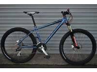 CARRERA VULCAN MOUNTAIN BIKE, 16 inch frame, Marzocchi forks,NEW PARTS, CUSTOM PROJECT
