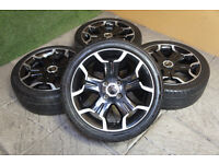 "Genuine Citroen DS3 Bellone 17"" Alloy wheels & Tyres 4x108 Black VTR DStyle DSport C3"