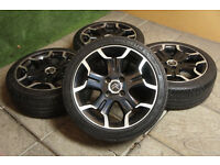 "Genuine Citroen DS3 17"" Bellone Alloy wheels & Tyres 4x108 Black C3 Peugeot Alloys"