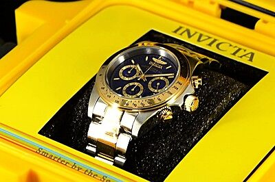 Invicta Speedway Signature 18k Gold IP 2 Tone Chronograph Tachymeter Men's Watch