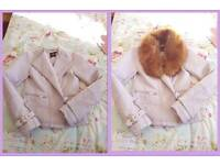Stunning brand new lilac biker jacket size 8