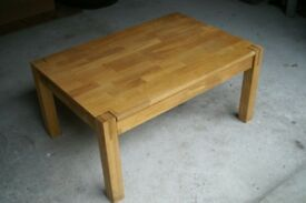 Solid oak coffee table for sale