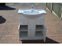 Sink, Vanity Unit, Shower Door and Shower Panel