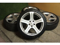 "Genuine Mercedes CLS 18"" Alloy wheels & Tyres 5x112 E Class W219 W211 Alloys"
