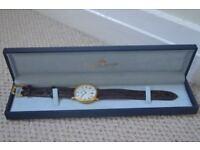A gold plated quartz gentleman's Maurice Lacroix wrist watch