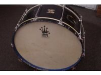 """Vintage bass drum - wood-ply - 27 1/2"""" x 11"""" - Not branded"""