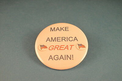 """MAKE AMERICA GREAT AGAIN"" BUTTON pin pinback 2 1/4"" badge NEW Big DONALD TRUMP"
