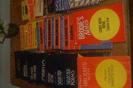 21 Study aids/literature guides, Brodie Macmillan & York, 1984, Cider with Rosie, Macbeth etc