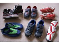Bundle of boys shoes size 8.5 and 9.
