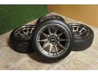 "Genuine XXR 527 16"" Alloy wheels 4x100 & 4x108 Civic Clio Corsa MX5 Fiesta Alloys 16x8.25 Stance"