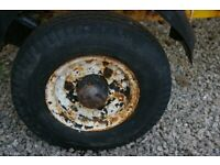 Wanted Three stud wheel and tyre 400/480X8