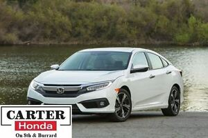 2016 Honda Civic Touring + NAVI + LEATHER + CERTIFIED!