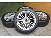 "Genuine Team Dynamics 18"" Alloy wheels 5x108 Ford Jaguar XJ XF Alloys"