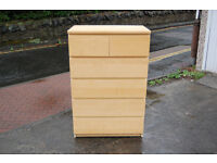 IKEA MALM Chest of 6 drawers, white stained oak veneer