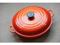 Le Creuset Cast Iron Shallow Casserole Dish 30cm, Volcanic Orange - NEW, unused!