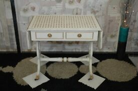 Vintage, Shabby Chic Coffee/ side drop leaf table with little castors...