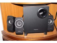Creative surround speaks with five speakers great condition working - £8
