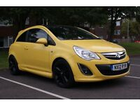"Vauxhall Corsa 2012 Limited edition 3 door, in ""Sunny Melon"" with gloss black roof."