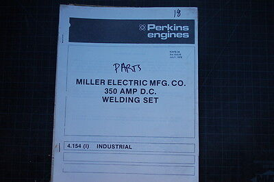 Miller Welder 350 Amp Dc 4.154 Parts Manual Book List Stick Mig Tig Catalog Shop