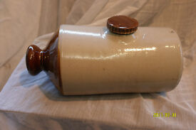 Antique two colour Stone Hot Water Bottle