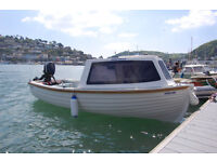 Boat '12 foot' with cuddy including trailer, 6hp outboard engine & more