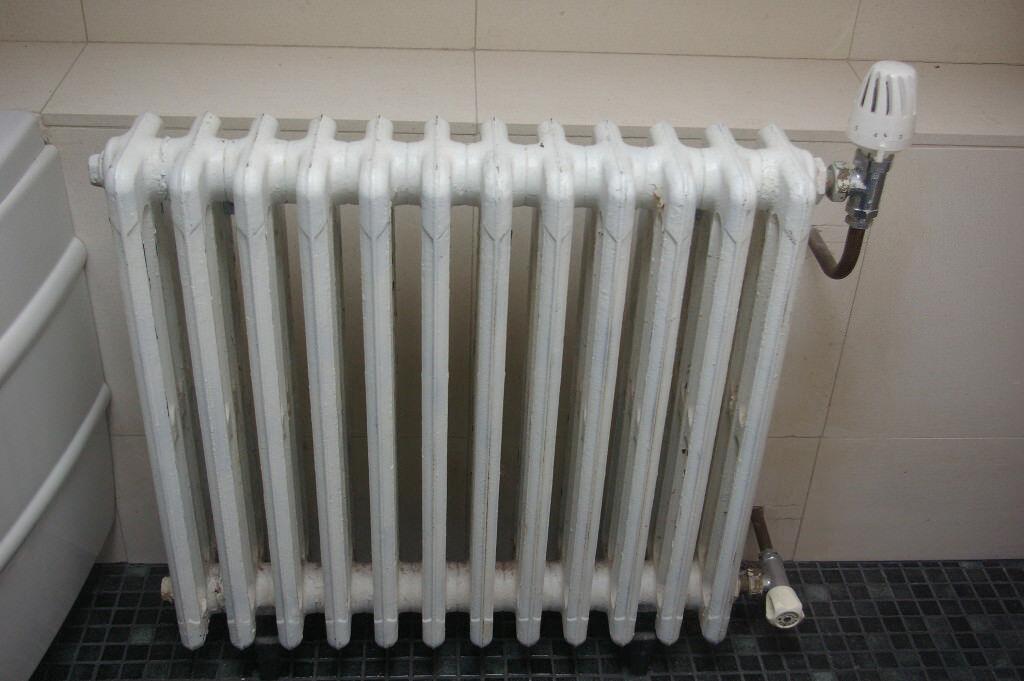 "Vintage cast iron ""school"" radiators"