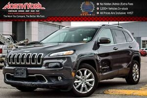 2016 Jeep Cherokee Limited Nav|Leather|Backup Cam|R.Start|Blueto