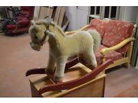 Simply Gifted Plush Rocking horse