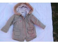 Girls coat size 3-4 years