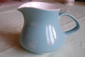 Poole 'Celeste' Jug, Lovely Mug and Two Floral Plates, one 'Sherborne', All in Excellent Condition