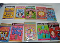 A collection of paperback Jacqueline Wilson books