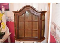 oak glazed cabinet