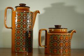 Hornsea vintage retro mid century teapot + coffee pot