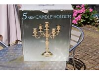 5 ARM CANDLE HOLDERS