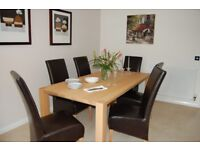 DFS Large oak dining table