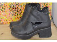 UK size 4 leather shoes, black