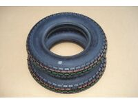 250 x 6 Black Mobility Scooter Tyre 2.50-6 for Shoprider Perrero - Sterling Emerald - Rascal 388xl